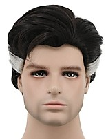 cheap -halloweencostumes karlery men brown white short curly wig halloween cosplay wig anime costume party wig