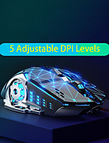 cheap -british fick w20 metal wired mouse macro definition imitation mechanical gaming mouse dpi adjustable office home