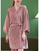 cheap -Women's Home Polyester everyday V Wire Pajamas Long Sleeve Basic Spring S Blushing Pink