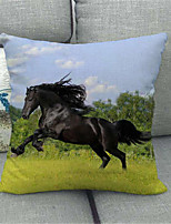 cheap -Double Side Cushion Cover 1PC Linen Soft Decorative Square Throw Pillow Cover Cushion Case Pillowcase for Sofa Bedroom Superior Quality Machine Washable Horse