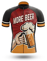 cheap -21Grams Men's Short Sleeve Cycling Jersey Summer Spandex Polyester Burgundy Bike Jersey Top Mountain Bike MTB Road Bike Cycling Quick Dry Moisture Wicking Breathable Sports Clothing Apparel