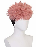 cheap -soyusunny short mixed pink black yuji itadori cosplay costume halloween male wigs