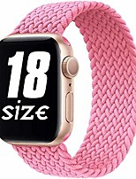 cheap -smartwatch bandnylon braided solo loop compatible with apple watch strap, sport elastic band for iwatch series se / 6/5/4/3/2/1, lemonade pink, 38 / 40mm-3