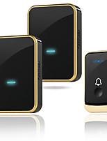 cheap -Wireless Doorbell Music Door bell Wireless Remote Control Doorbell Smart Home Waterproof DoorBell Chime 1 Transmitter 2 Receiver