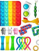 cheap -22 pcs Fidget Sensory Toy Set Stress Relief Toys Autism Anxiety Relief Stress Pop Bubble Fidget Sensory Toy For Kids Adults