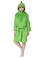 cheap -Kigurumi Pajamas Cartoon Onesie Pajamas Flannel Fabric Green Cosplay For Boys and Girls Animal Sleepwear Cartoon Festival / Holiday Costumes / 1 Belt
