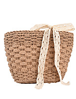 cheap -Women's Bags Top Handle Bag Holiday Beach Lace up Khaki Beige