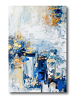 cheap -Oil Painting Handmade Hand Painted Wall Art Abstract Blue Brown Home Decoration Dcor Stretched Frame Ready to Hang
