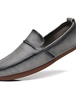 cheap -Men's Loafers & Slip-Ons Leather Shoes Tassel Loafers Comfort Loafers Business Casual Vintage Daily Party & Evening Walking Shoes Nappa Leather Cowhide Non-slipping Wear Proof Booties / Ankle Boots