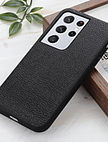 cheap -Phone Case For Samsung Galaxy Back Cover S10 A10 A50 M30 A40 A70 Galaxy A2 Core S10e Galaxy A60 Galaxy A10e Shockproof Dustproof Solid Colored Genuine Leather