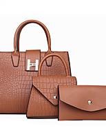 cheap -Women's Bags Bag Set 3 Pcs Purse Set Date Office & Career 2021 Black Red Gold Silver