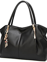 cheap -Women's Bags PU Leather Tote Solid Color Daily Going out 2021 Tote Handbags Wine White Black Gold