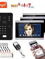 cheap -TUYA Video Intercom WIFI RFID Video Door Phone System Home  Intercom with 3 Monitor 7 Inch Support Remote APP Unlocking Recording