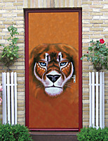 cheap -2pcs Self-adhesive Creative Forest Overlord Door Stickers For Living Room Diy Decorative Home Waterproof Wall Stickers