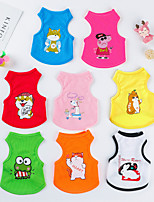 cheap -Dog Cat Vest Elegant Adorable Cute Dailywear Casual / Daily Dog Clothes Puppy Clothes Dog Outfits Breathable White Yellow Red Costume for Girl and Boy Dog Polyster XS S M L XL XXL