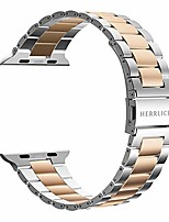 cheap -smartwatch band bracelet compatible with apple watch 38mm /44mm premium stainless steel metal compatible with iwatch /apple watch series se / 6/5/4/3/2/1 (42/44, silver + rose gold)