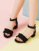 cheap -Girls' Sandals School Shoes PU Synthetics Big Kids(7years +) Black Pink Summer