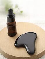 cheap -Black Buffalo Horn Facial Massage Board