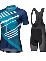cheap -CAWANFLY Women's Short Sleeve Cycling Jersey with Bib Shorts Cycling Bib Shorts Summer Mineral Green Bike Quick Dry Sports Mountain Bike MTB Road Bike Cycling Clothing Apparel
