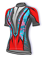 cheap -21Grams Women's Short Sleeve Cycling Jersey Summer Spandex Polyester Red Patchwork Bike Jersey Top Mountain Bike MTB Road Bike Cycling Quick Dry Moisture Wicking Breathable Sports Clothing Apparel