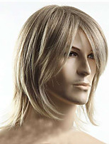 cheap -Fashion Mens Boys Style Straight Blonde Hair Cosplay Party Daily Wear Hair Full Wig