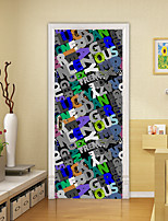 cheap -2pcs Self-adhesive Creative 3d Letter Door Stickers For Living Room Diy Decoration Home Waterproof Wall Stickers