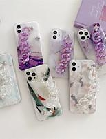 preiswerte -Telefon Hülle Handyhüllen Für Apple Rückseite iPhone 12 Pro Max 11 SE 2020 X XR XS Max 8 7 Stoßresistent Staubdicht Linien / Wellen Geometrische Muster TPU