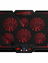 cheap -COOLCOLD 17Inch Six Fan Gaming Laptop Cooler Led Screen Two USB Port 2600RPM Laptop Cooling Pad Notebook Stand for Laptop