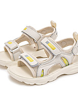 cheap -Girls' Sandals Comfort Cowhide Katy Perry Sandals Big Kids(7years +) Daily Walking Shoes Split Joint Pink Beige Summer / Peep Toe / Booties / Ankle Boots