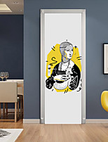 cheap -2pcs Self-adhesive Creative Character Portrait Door Stickers For Living Room Diy Decorative Home Waterproof Wall Stickers