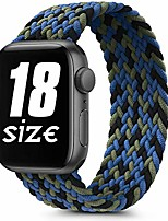 cheap -Smart watch band braided solo loop elastic bands compatible with apple watch 38mm 40mm 42mm 44mm, soft stretchy sports wristband for iwatch series 6 5 4 3 2 1 se (42mm/44mm-m, camouflage blue)