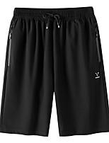 "cheap -Men's Hiking Shorts Summer Outdoor 10"" Regular Fit Breathable Spandex Knee Length Shorts Black Beach Traveling M L XL XXL XXXL"