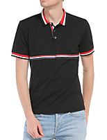 cheap -Men's T shirt Hiking Tee shirt Golf Shirt Short Sleeve Tee Tshirt Top Outdoor Quick Dry Lightweight Breathable Sweat wicking Spring Summer White Black Hunting Fishing Climbing