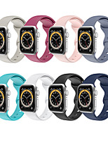 cheap -Smart Watch Band for Apple iWatch 1 pcs Classic Buckle Silicone Replacement  Wrist Strap for Apple Watch Series SE / 6/5/4/3/2/1