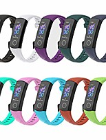 cheap -Smartwatch band 10 pcs replacement band compatible for honor band 5 band 4 wristband, sport silicone wristband smartwatch replacement bands for honor band 4 honor band 5 replacement band