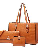cheap -Women's Bags Bag Set Zipper Daily Office & Career Bag Sets Wine Black Brown Coffee