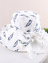 cheap -Vintage Style Elegant Polyester / Polyamide Hats / Headwear with Bowknot / Printing / Flower 1 PC Casual / Holiday Headpiece