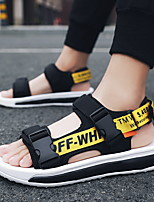 cheap -Men's Sandals Casual Daily PU Elastic Fabric Breathable Non-slipping Wear Proof Black / Red White / Yellow Black Summer