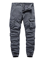 cheap -Men's Work Pants Hiking Cargo Pants Hiking Pants Trousers Military Winter Outdoor Regular Fit Ripstop Quick Dry Multi Pockets Breathable Cotton Pants / Trousers Bottoms Army Green Grey Khaki Black