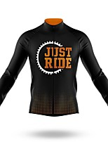 cheap -21Grams Men's Long Sleeve Cycling Jersey Spandex Polyester Black Gear Bike Jersey Top Mountain Bike MTB Road Bike Cycling Quick Dry Moisture Wicking Breathable Sports Clothing Apparel / Athleisure