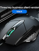 cheap -New product luminous pw1 adjustable to mute wired mouse eating chicken e-sports game office six-button DPI luminous mouse
