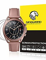 cheap -3 pieces tempered glass compatible with samsung galaxy watch 3 41mm screen protector, [2.5d 9h hardness], [anti-scratch] [anti-bubbles], full cover screen protector for galaxy watch3 41mm