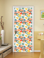 cheap -2pcs Self-adhesive 3D Art Door Stickers For Living Room Diy Decoration Home Waterproof Wall Stickers