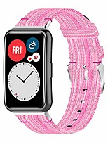 cheap -Smart watch band nylon braid band compatible for huawei watch fit bands, breathable woven watch band adjustable replacement wristband for huawei watch fit, pink