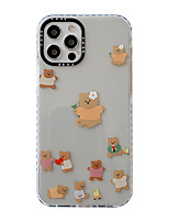 cheap -Phone Case For Apple Back Cover iPhone 12 Pro Max 11 SE 2020 X XR XS Max 8 7 6 Portable Shockproof Dustproof Animal TPU
