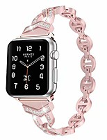 cheap -Smart watch band strap compatible with apple watch bands 38mm 40mm 42mm 44mm iwatch series se/6/5/4/3/2/1. shiny diamond-studded ladies metal bracelet wristband(pink ,38mm/40mm)
