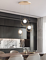 cheap -LED Pendant Light Modern Nordic Gold 20 cm Geometric Shapes Stylish Minimalist Painted Finishes Modern 110-120V 220-240V