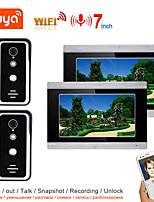 cheap -TUYA Video Intercom WIFI Video Door Phone System Home  Intercom with 7 Inch 2-monitor 2-camera