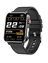 cheap -E86 Smartwatch Fitness Running Watch IP68 Heart Rate Monitor Blood Pressure Measurement Body Temperature Test ECG+PPG Pedometer Call Reminder 45mm Watch Case for Android iOS Men Women / Sleep Tracker