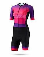 cheap -CAWANFLY Women's Short Sleeve Cycling Jersey Summer Fuchsia Bike Quick Dry Breathable Sports Patterned Mountain Bike MTB Road Bike Cycling Clothing Apparel / Racing / Micro-elastic / Triathlon